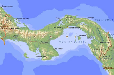 Map Ã�ナマ地峡にて Panama Iio Org Uk